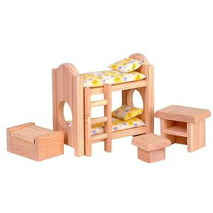 プラントイ 木のおもちゃ PLANTOYS ドールハウス クラシック子ども用ベッド おままごとに 木製玩具 【あす楽対応】