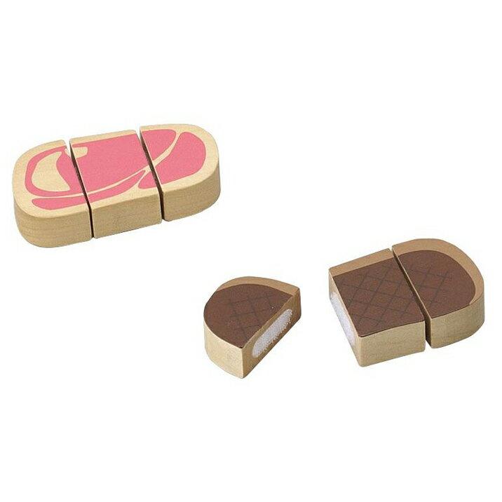 木のおもちゃ おままごと ステーキ お肉 食材 食べ物 キッチン 森の遊び道具 【あす楽対応】