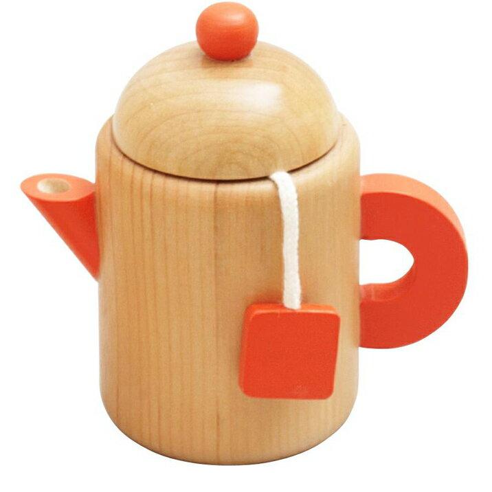 木のおもちゃ おままごと ティーポット 調理用具 お茶 キッチン 森の遊び道具 【あす楽対応】