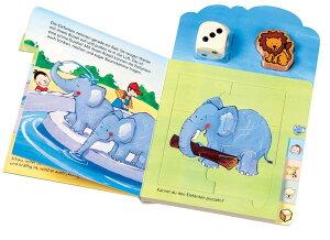 HABA ハバ社 ドイツ製 サイコロゲーム 絵本 アレックスの動物園 ジグソーパズルも 英語 【あす楽対応】