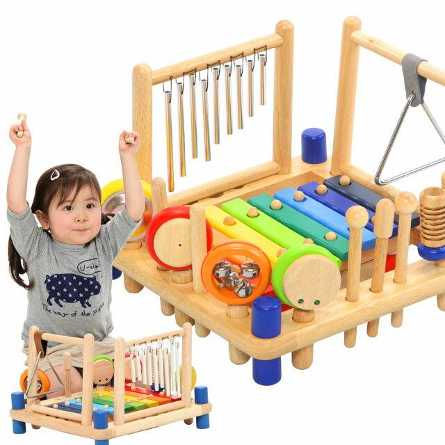 木のおもちゃ 楽器玩具 アイムトイ ミュージックステーション 【あす楽対応】