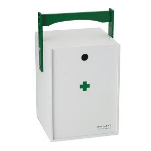 救急箱 おかもち型 ホワイト 救急ボックス 薬入れ 薬箱 インテリア収納