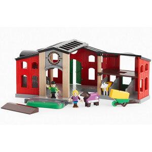 BRIO(ブリオ) ホースハウス 木のおもちゃ 動物 馬 可愛い きゅう舎 プレゼント 幼児 木製玩具 知育玩具