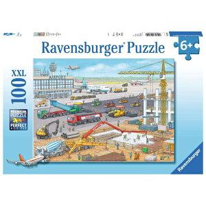 ジグソーパズル 子供用 空港建設中 100ピース 知育玩具 6歳から ラベンスバーガー Ravensburger