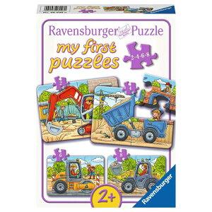 ジグソーパズル 子供用 マイファーストパズル工事中 4枚セット(2.4.6.8ピース) 知育玩具 2歳から ラベンスバーガー Ravensburger