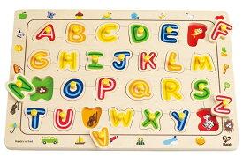 Hape ハペ社 ABCマッチングパズル 木のおもちゃ 英語 英単語の練習 木製玩具 知育玩具 【あす楽対応】