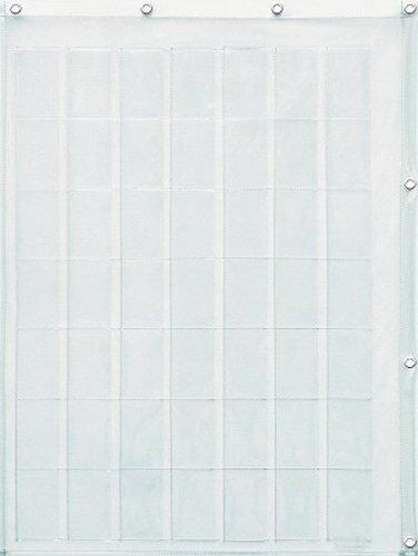 ウォールポケット 壁掛け収納 透明×透明 コレクションポケット トレーディングカードサイズ 49ポケット クリアー ウォールラック 壁面収納 おしゃれ 【あす楽対応】