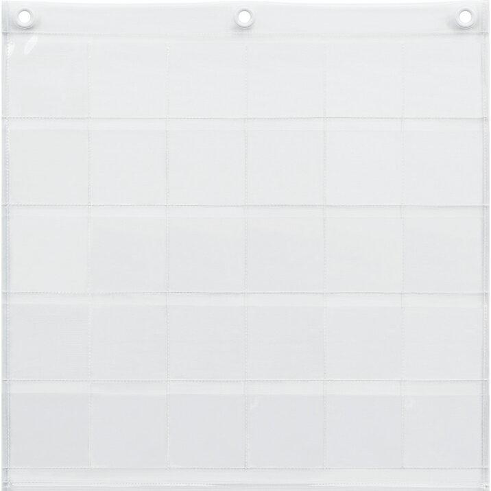 ウォールポケット 壁掛け 缶バッジ収納 缶バッジポケット(30P) カンバッジ クリアー 透明 【あす楽対応】
