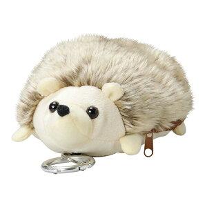 パスポーチ(ハリネズミ) 定期入れ ポーチ キーリール カラビナフック 動物 かわいい 雑貨