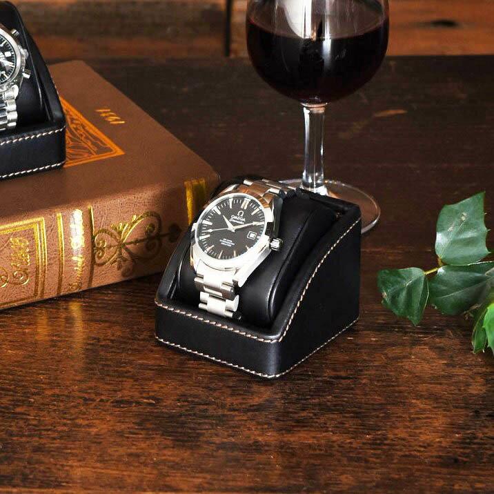 ウォッチスタンド ブラック 黒 1本用 男性 時計収納ケース メンズ 腕時計 【あす楽対応】