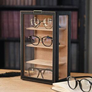 メガネタワー ブラック 4本収納 眼鏡収納 ディスプレイラック コレクションケース インテリア雑貨 シンプル おしゃれ