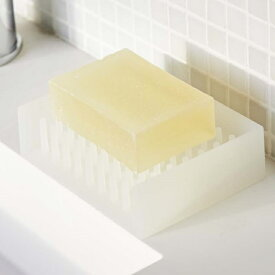 水切りソープトレイ フロート クリア 石鹸置き 石けん せっけん バス洗面 お風呂 ソープディッシュ シリコン製 おしゃれ バスアクセサリー