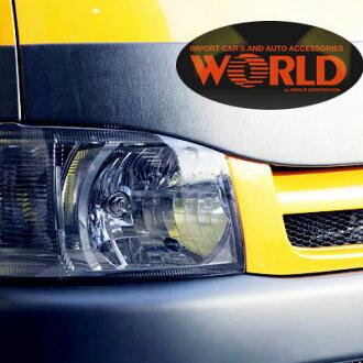 """订购在200系统HIACE高能手我的陈的前面的车头灯覆盖物""""灯烟""""固定式warudokopo"""