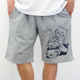 猫渕さんミニ裏毛「ピラミッドニャ」ショートパンツ