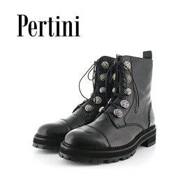 期間限定ポイント5倍2019秋冬 Pertini ペルティニ 192W16204 レースアップショートブーツ ブーティ— ショートブーツ マニッシュ シューズ ground 靴