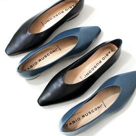 FABIORUSCONIファビオルスコーニ f-5540 ポインテッドトゥソフトレザーパンプス パンプス レディースシューズ ブラック ブルー マニッシュground靴 レビューキャンペーン実施中