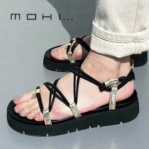 MOHI モヒ 2492-1 スニーカーソールゴムコードサンダル スポサン 厚底 細紐 歩きやすい ground 靴レビューキャンペーン実施中