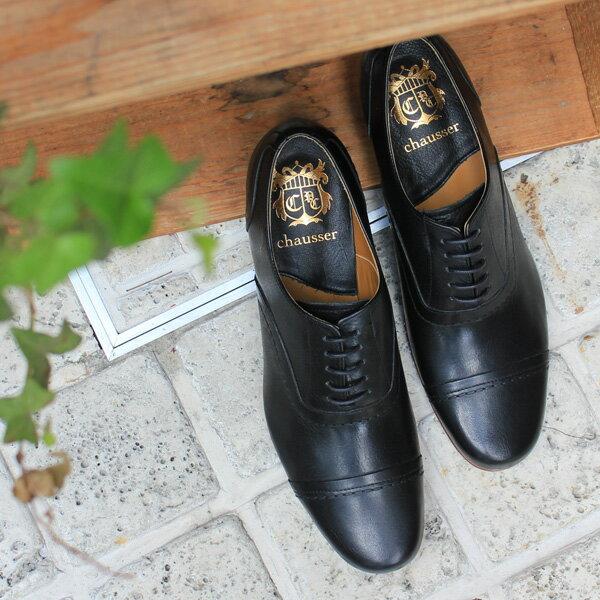 chausser ショセ C-247 BLACK ブラック ストレートチップマニッシュシューズ 春物 ground 靴 母の日 クーポン対象