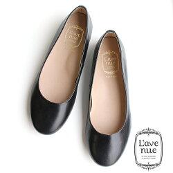 L'avenue/ラヴェニュー103レザーフラットシューズブラック ground 靴 