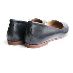 【2016春夏新作】L'avenue/ラベニュー103レザーフラットシューズブラック ground 靴 