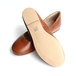 【2016春夏新作】L'avenue/ラベニュー103レザーフラットシューズブラウン|ground|靴|