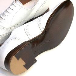 【送料無料】【2016春夏新色】Men'schausser/ショセC725短靴ウィングチップシューズホワイト|ground|靴