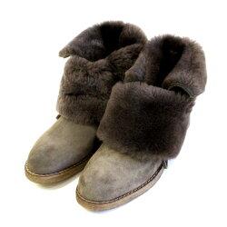 【定価\27,000→\18,900】STEFANOGAMBA/ステファノガンバ6974折り返しスウェードムートンブーツトープ ground 靴 