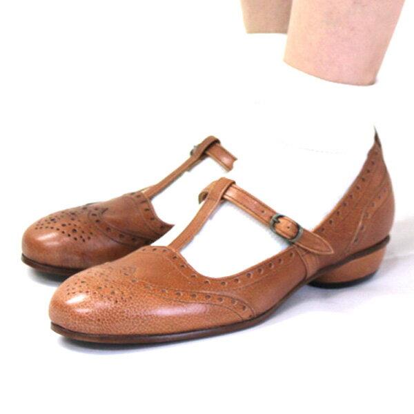 【送料無料】chausser/ショセ C2217Tストラップデザインパンプス|ground|靴|