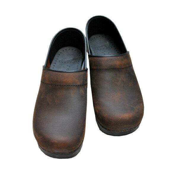 【2018春夏】dansko/ダンスコ|Professional|Womans|プロフェッショナル|OILED ANTIQUEBROWN|オイルドブラウン|踵有りコンフォートクロッグスサボサンダル|ground|靴|