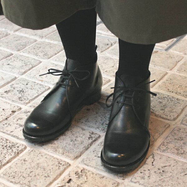 【送料無料】plus by chausser(プリュスバイショセ) PC5035 チャッカブーツ ブラック|ground|靴|