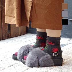 【2017秋冬】L'avenue/ラヴェニュー1130155バックストラップクロスファーサンダルブラックグレーキャメル|ground|靴|