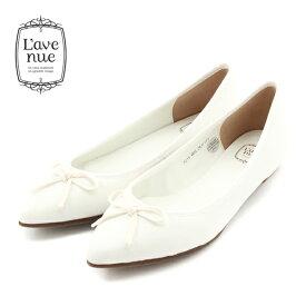 クーポン配布中 L'avenueラヴェニュー7015ポインテッドバレエシューズホワイトground靴