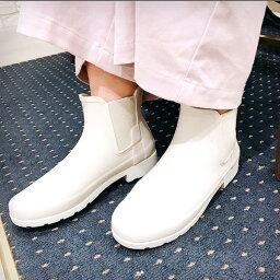 HUNTER/獵人Original Refined Chelsea(原始物再找切爾西)纖細旁邊戈爾雷恩短長筒靴白|ground|鞋|雨鞋|雷恩長筒靴|
