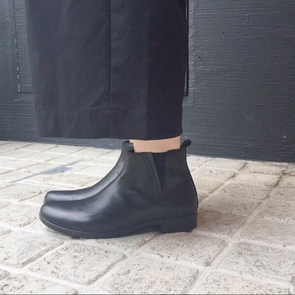 【2018春夏】TRAVEL SHOES by chausser(トラベルシューズバイショセ)|TR-005|晴雨兼用サイドゴアブーツ|ショートブーツ|ブラック|ground|靴|レイン|