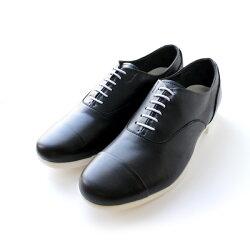 【送料無料】TRAVELSHOESbychausser(トラベルシューズバイショセ)TR-001ストレートチップマニッシュシューズブラック×ホワイト|ground|靴|