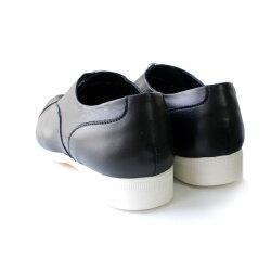 【2016秋冬予約】【8月中旬頃入荷予定】TRAVELSHOESbychausser(トラベルシューズバイショセ)TR-001ストレートチップマニッシュシューズブラック/ホワイト/ブラック×ホワイト|ground|靴|