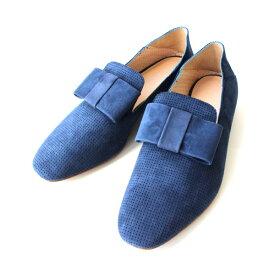 クーポン配布中 Pertini ペルティニ 171W13344M スエード パンチング リボン オペラシューズ ネイビー ground 靴