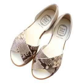 クーポン配布中 L'avenueラヴェニューX902セパレートフラットサンダルベージュground靴
