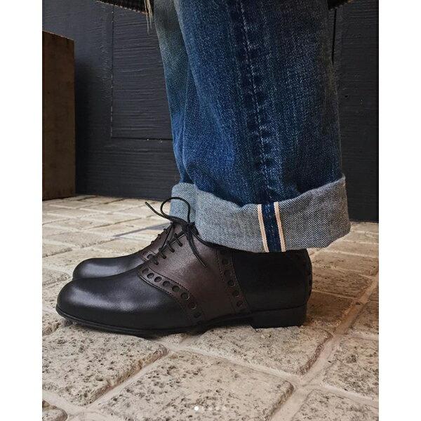 【2018秋冬】chausser ショセ C-2272 レザーサドルシューズ ブラック ダークブラウン ground 靴 母の日 クーポン対象