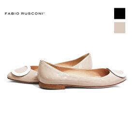 期間限定ポイント5倍FABIORUSCONIファビオルスコーニS-3441オーバルモチーフフラットパンプスレディースシューズフォーマルオケージョンブラックベージュground靴
