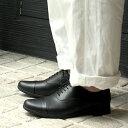 TRAVEL SHOES by chausser(トラベルシューズバイショセ) TR-001M メンズストレートチップシューズ ブラック メンズ ドレスシューズ 撥水 ground 靴 限定クーポン実施中