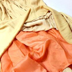 【2018春夏】Briller/ブリエBR-1001ヴィンテージサテンギャザースカートクレープスカートネイビー グレー オレンジ ground 服 
