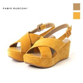 クーポン配布中 FABIORUSCONI ファビオルスコーニ AKY210 クロスベルト 厚底 コルクソール サンダルground 靴