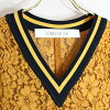 ORIVAR SAT オリバーサット M8818 till den V neck race knit no sleeve race tops groundware summer knit coupon