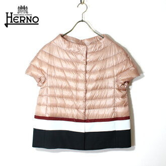 It is ground clothes Mother's Day in HERNO ヘルノライトダウンジャケットレディース PI0909D short sleeve reversible light down light weight down short sleeves material reshuffling pink tricolor light outer outer 2019 spring and summer