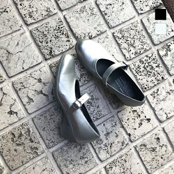 【2019春夏】TRAVEL SHOES by chausser トラベルシューズバイショセ TR-006 晴雨兼用 ワンストラップヒールパンプス ブラック ネイビー レインパンプス おじ靴 レディース ground 靴 母の日