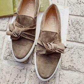 ポイント10倍L'avenueラヴェニューZ512ツイストリボンスニーカートープグレイground靴 【キャッシュレス5%還元対象】