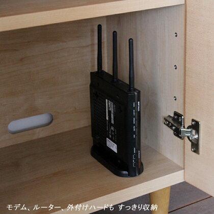 ESL電話台リビングボード完成品カラー ナチュラルメープルサイズ 幅80奥行33高さ85.3cm生産国 国産日本製木製fax台モデムルーター収納カウンター下収納北欧スリム薄型スリム寝室