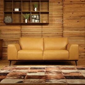 商品名| REBONレボン総本革張りソファカラー| キャメルブラウン ヌメ革色主素材| 本革 ウレタンフォーム 木フレームSバネとウェービングベルトのダブルクッション構造北欧 sofa 2人掛け 3人掛け SOFA
