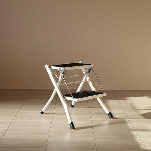 商品名 AST-SP ホワイト 脚立 折りたたみ 踏み台 2段材 料 スチール/ポリプロピレンサイズ 幅42 奥行48 高さ43cmステップ台 ステップスツール 折り畳み かわいい完成品 収納 おしゃれ ディスプ